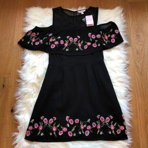 ASOS Miss Selfridge Floral Cold Shoulder Dress